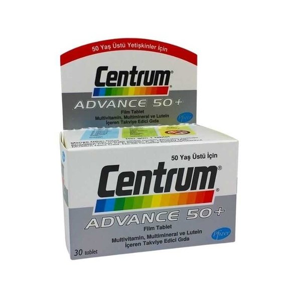 Centrum Advance 50+ Multivitamin ve Multimineral İçeren 30 Tablet
