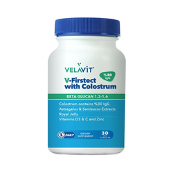 Velavit - Velavit V-Firstect With Colostrum Gıda Takviyesi 30 Kapsül
